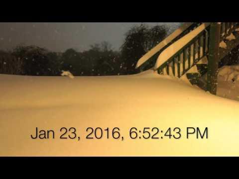 Winterstorm Jonas Timelapse (4K)