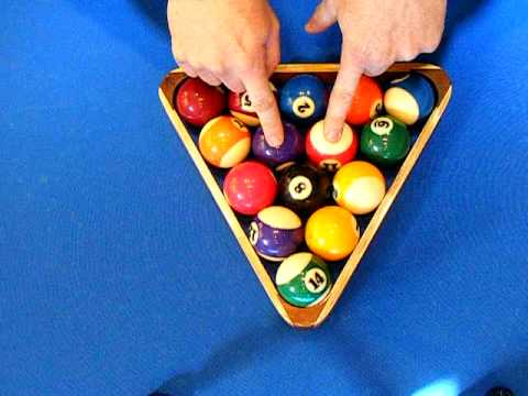 How To Rack Ball Billiards YouTube - How to rack a pool table
