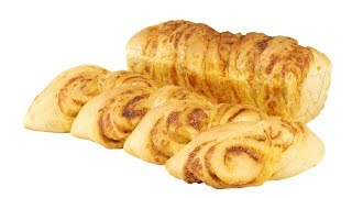 Хлеб с сыром и чесноком. Два варианта формовки.