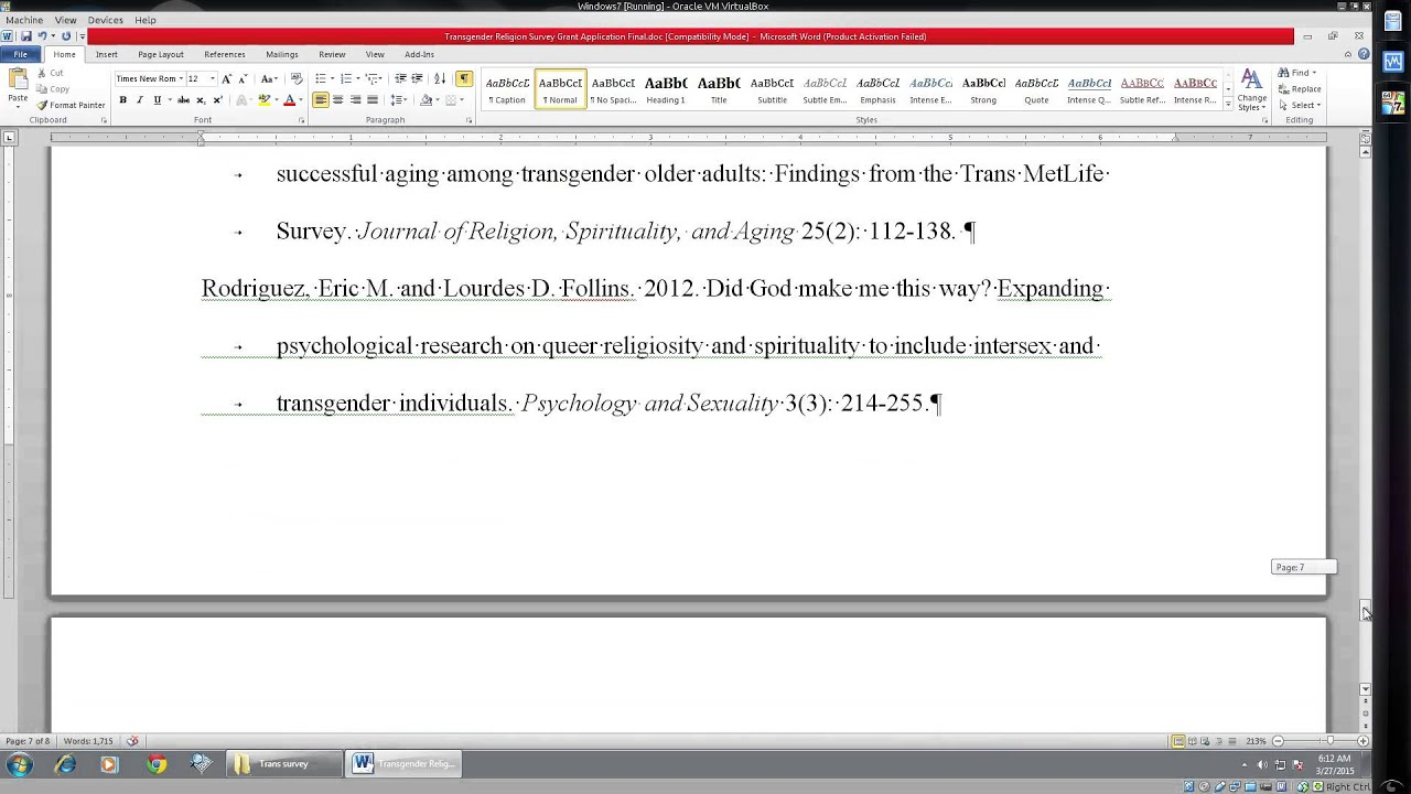 How To: Use the Ruler Bar to Format Academic References - YouTube