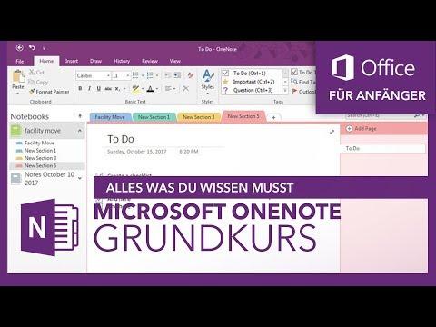Microsoft OneNote (Grundkurs) Für Anfänger | Microsoft Office Tutorial Serie