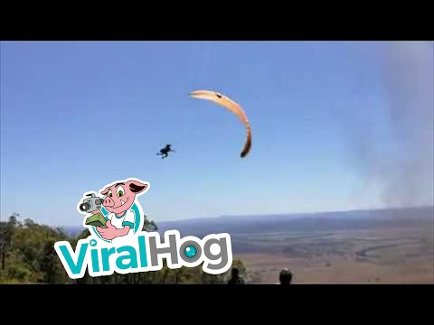 Kyle Anthony - Paraglider hit by dust devil and sent flying!