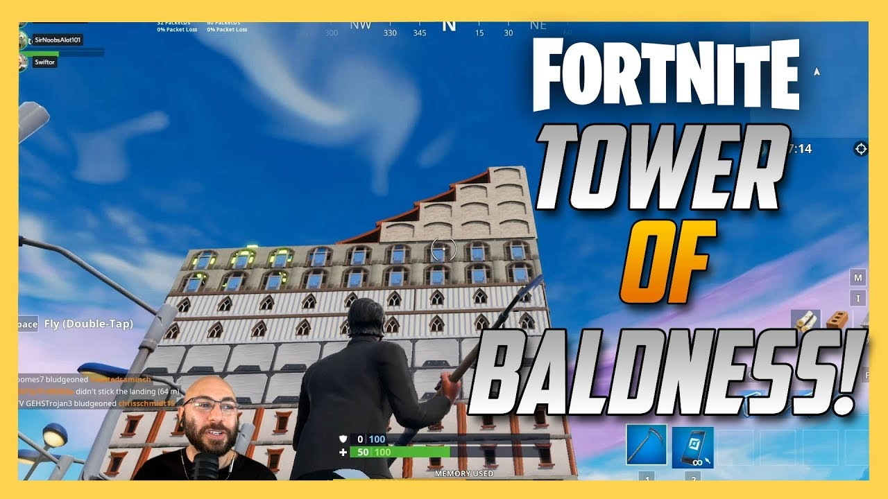 tower of baldness 7 floor maze fortnite creative code inside - best fortnite codes maze