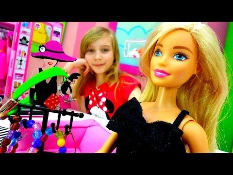 Игры для девочек. Кукла БАРБИ и Катя Видео для детей. Украшения и Одежда для Куклы на День Рождения