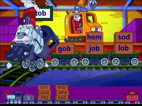 Reader Rabbit's Reading 1: Word Train Game