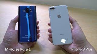 M-Horse Pure 1 vs iPhone 8 Plus