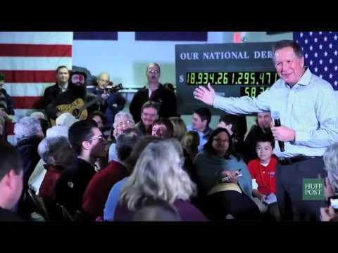 """John Kasich & Rod Webber sing """"Space Oddity"""" in NH"""