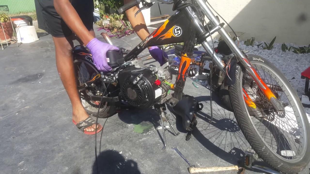 Putting A 212cc Predator Engine On Stingray Chopper Bike Part1