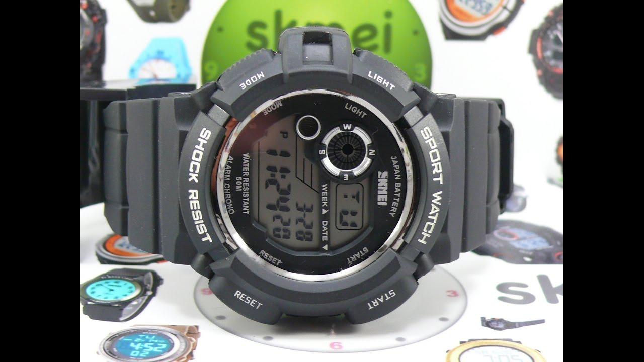 Спортивные часы Skmei 0939 (чёрные) - YouTube 1f4b90d2212