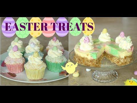 EASY EASTER SPRING TREATS | NO BAKE Cheesecake | Coconut Cupcakes | Baking Tutorial | Fun |