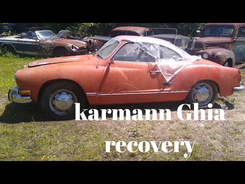 1974 VW karmann Ghia bought and abandoned years ago.