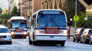 nova bus rts t80 206 4970 bx36 orion vii gen 1 cng 7667 bx11 at wadsworth ave 181 st