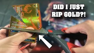 CRAZY POKEMON SAVE IT OR RIP IT! GOLD CARD EDITION! **must watch**