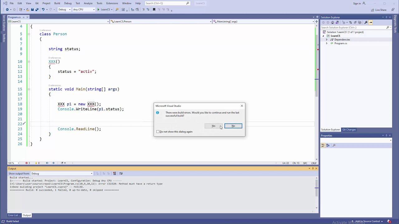 C# OO - Constructors