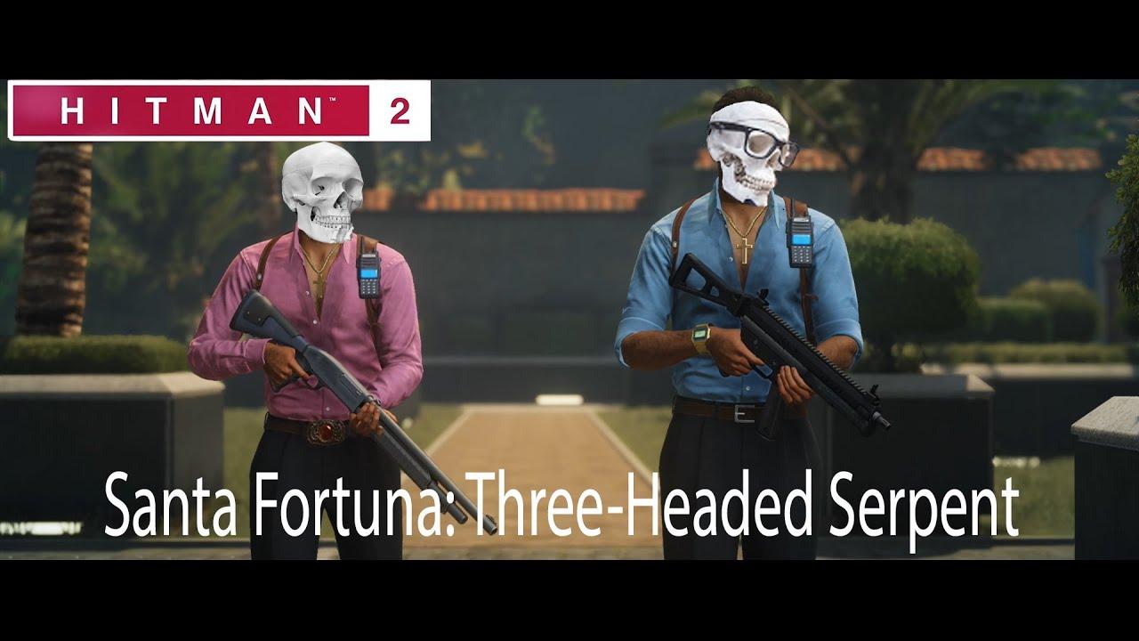 Hitman 2 Santa Fortuna Three Headed Serpent Themassmurder