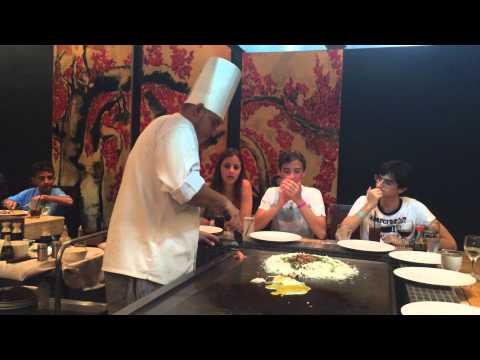 Friends in Sakura restaurant in Sheraton Bijao, Panama on September 15, 2014