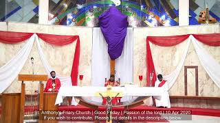 10 Apr 2020 | Passion of the Lord | Good Friday | Kannada | Live | St Anthony's Friary