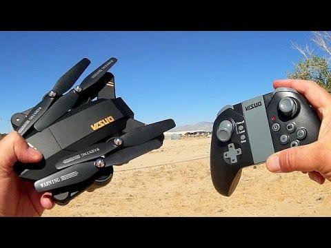Visuo XS809W Folding FPV 720p HD Camera Drone Flight Test Review