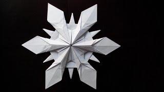 Снежинка оригами, (Riccardo Foschi) Snowflake origami