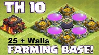 Clash of Clans Th10 Latest Update 25 + Plus 275 Wall Farming Base