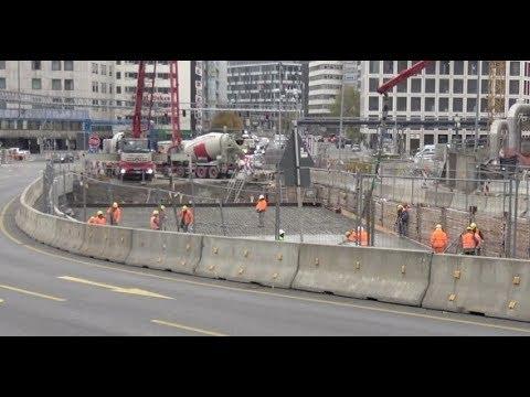 *Deckelbauweise* Heilbronner Straße fast fertig |16.11.2017 | #S21 #stuttgart21