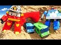 Робокар Поли и его друзья строят тоннель для Тайо