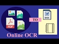 online ocr - convert images to word, text and pdf