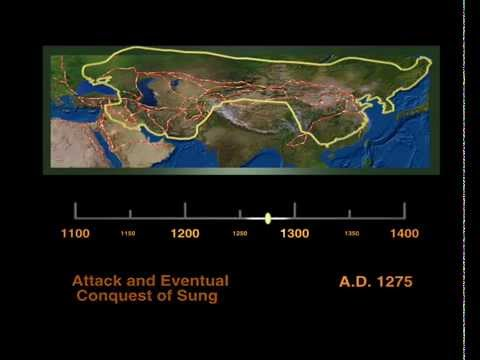 Growth of the Mongol Empire (1100-1400 AD)