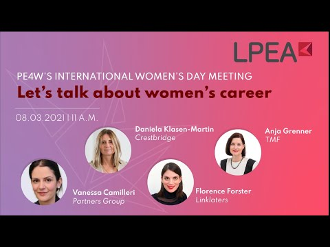 Let's talk about women's career (PE4W International Women's Day Meeting)