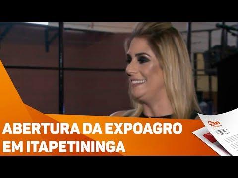 Abertura da Expoagro em Itapetininga - TV SOROCABA/SBT