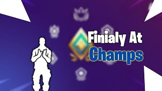 Finial Getting to Champion Division! Fortnite Battle Royale!
