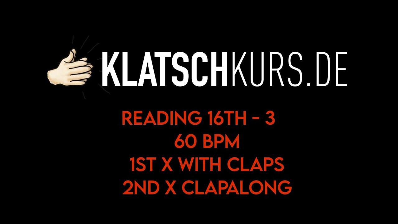 Reading 16th 3 (swing 16th), 60bpm,  - Klatschkurs - Rhythm Reading - by Kristof Hinz