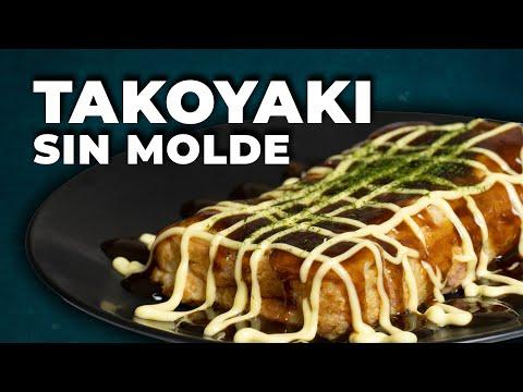 Receta Takoyaki ➡ SIN MOLDE - fácil y delicioso   Cocina Japonesa
