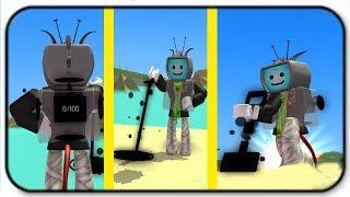 NOUVEAU Dark Matter Item Set And The Beach Vacation - Roblox Metal Detector Simulator