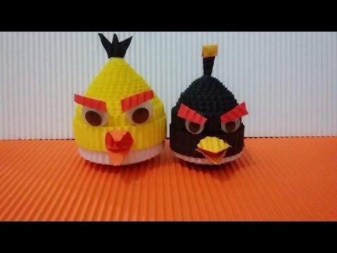 DIY angry bird from corrugated paper / kokoru paper