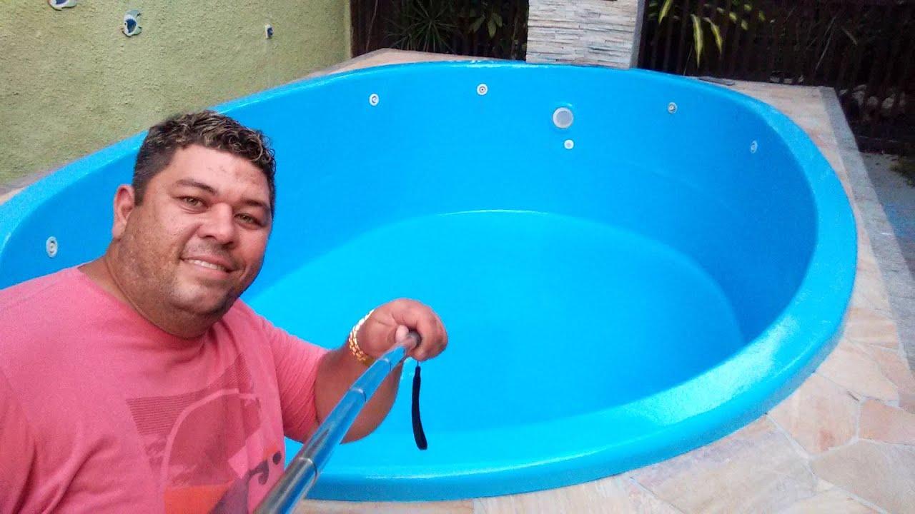 Edupiscinasvideos em reforma de piscina de fibra de vidro for Piscinas de fibras