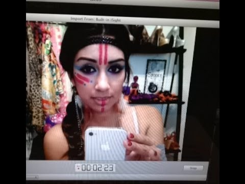 Halloween: Indian Makeup Tutorial - YouTube