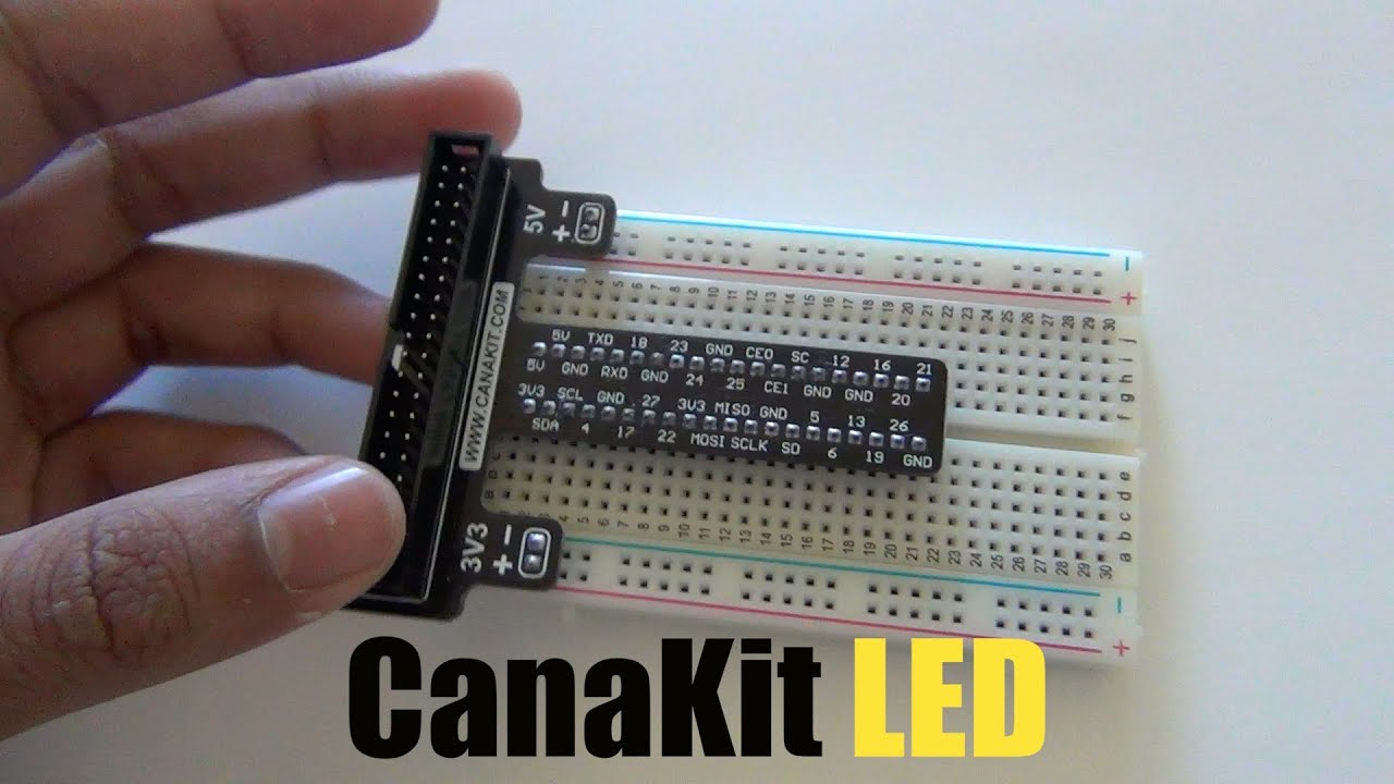 Raspberry Pi B+ setting up LED(canakit) [UPDATED VIDEO IN THE ...