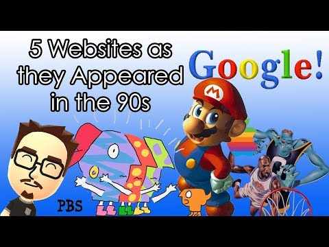 5 Websites As They Appeared In The 90s