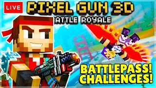 [LIVE] NEW BATTLE PASS CHALLENGES BATTLE ROYALE | Pixel Gun 3D