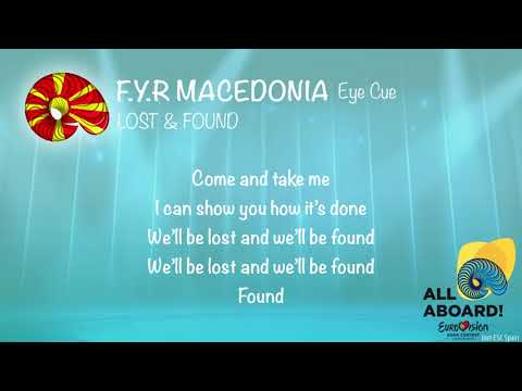 Eye Cue - Lost & Found (F.Y.R Macedonia) [KARAOKE VERSION]