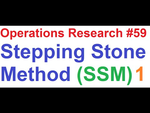 Operations Research Tutorial #59: Stepping Stone Method Solving 5x5 Transportation Problem [1of5]