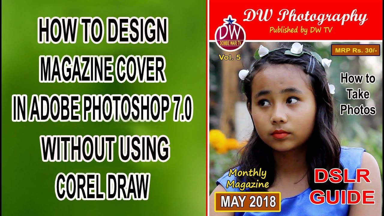 How To Design Magazine Cover In Adobe Photoshop 7 0 Just In Five Minutes
