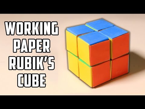 Exceptionnel How To Make A Working Rubik's Cube Out Of Paper! - YouTube PK76