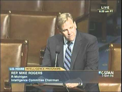 Chairman Rogers & Rep. Ruppersberger Introduce the FY12 Intel Authorization Bill on the House Floor