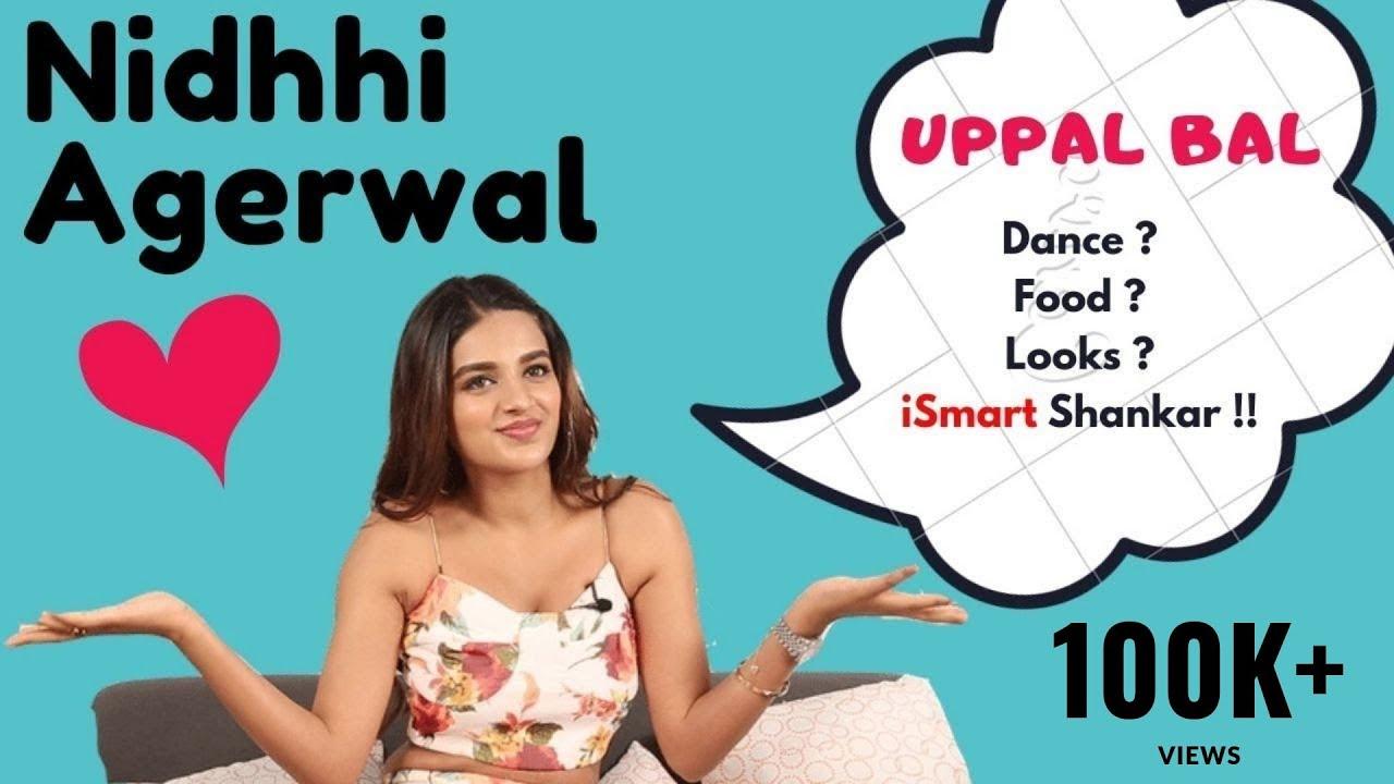 Nidhhi Agerwal Reaction On Uppal Bal, Food, Pani Puri, iSmart Shankar