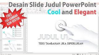 Desain Slide Judul Presentasi PowerPoint Cool and Elegant
