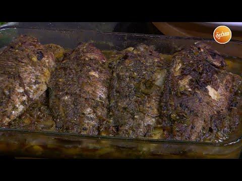 سمك بلطي محشي بالبصل المكرمل | الشيف شربيني