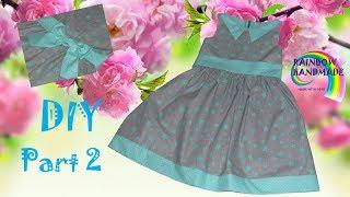 DIY2: Звездно-мятное  платье для девочки / Mint  stars dress for girl