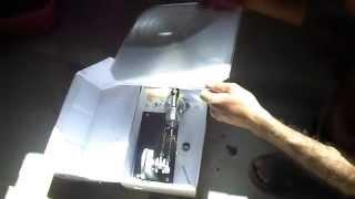 moteur de Stirling de type beta avec concentrateur de soliel